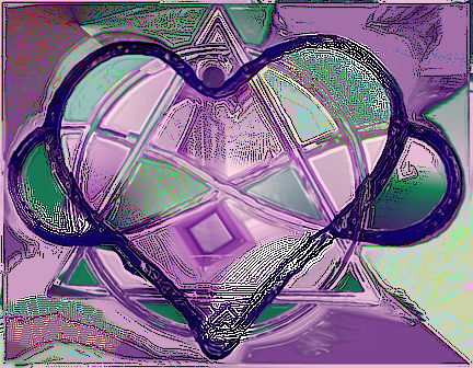 Stylized heart and infinity symbol