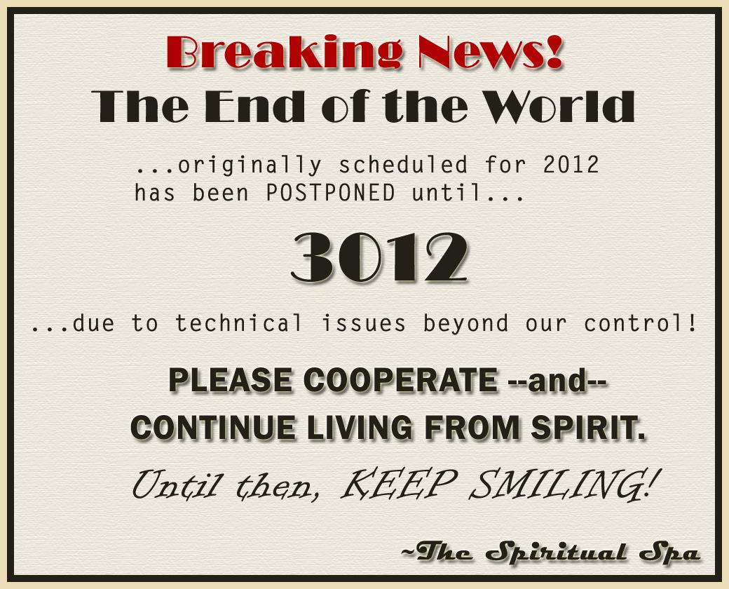 Delaying 2012 till 3012