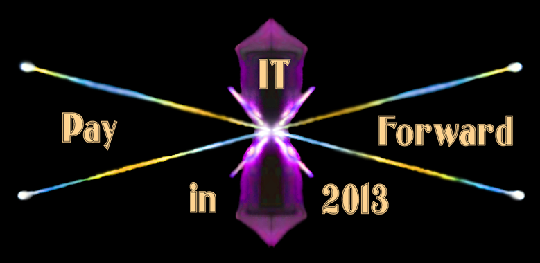 Pay it forward in 2013 graphic