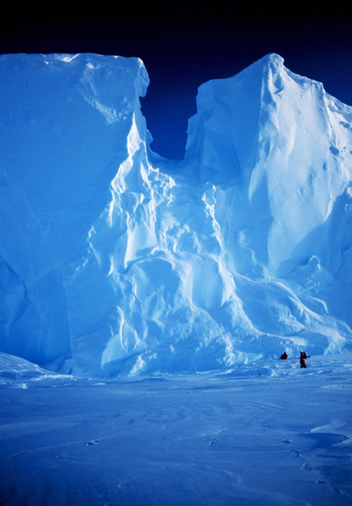 Ross Ice Shelf at the Bay of Whales