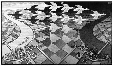 Escher's optical illusions