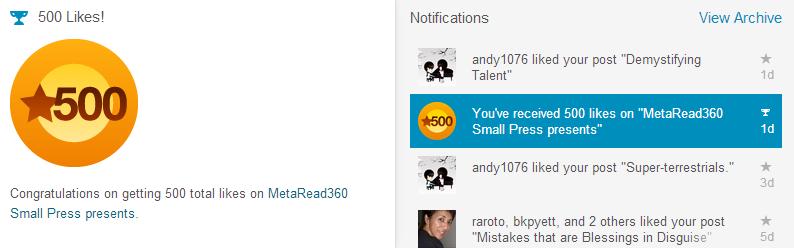 500 Likes Milestone