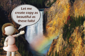 Let me create copy as beautiful as these falls