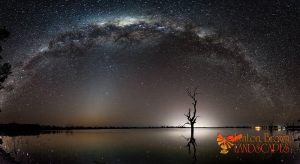 Milky Way reflected in a lake