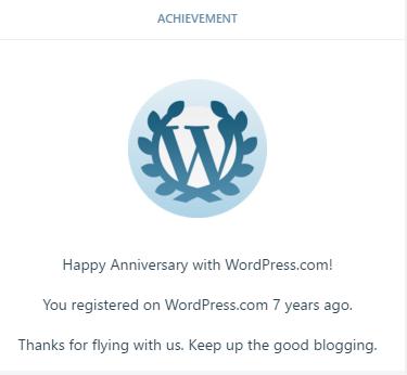 Seven Year Anniversary onWP!