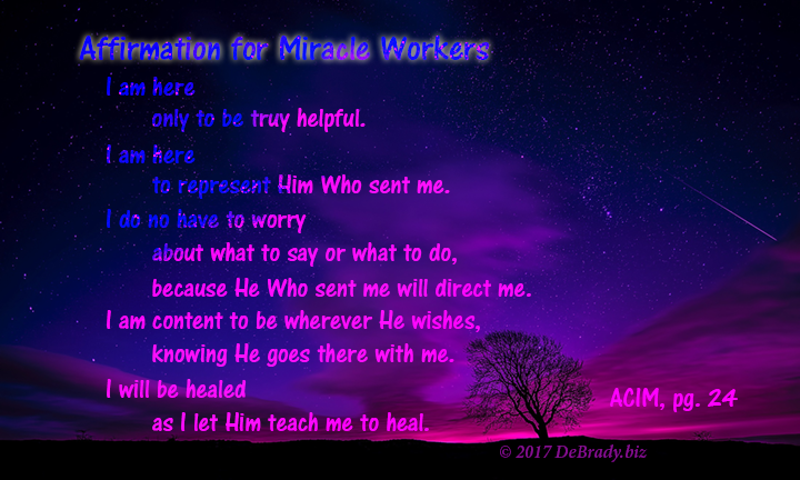Affirmation for Miracle Workers